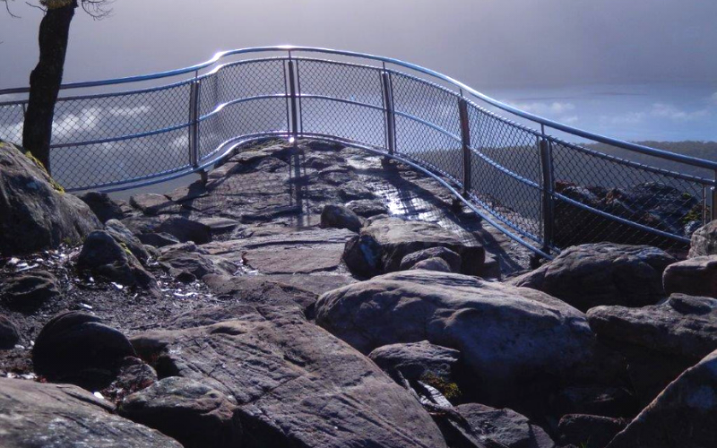 Ricksteel Fabrications Stawell - Safety Barrier at Lookout Point