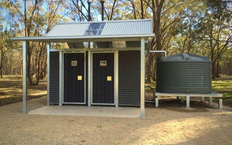 Ricksteel Fabrications Stawell - Custom toilet and water tank build